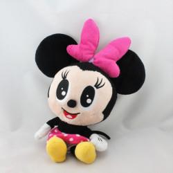 Peluche baby Minnie noir rose à pois DISNEYLAND