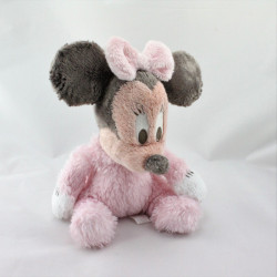 Peluche baby Minnie rose clair grelot  DISNEYLAND
