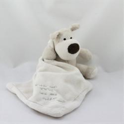 Doudou chien gris beige mouchoir Love and Cuddles BOOFLE BABY