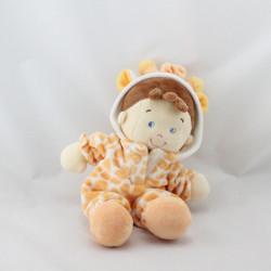 Doudou poupée lutin déguisé en girafe  NICOTOY