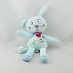 Doudou chien bleu hérisson TEX
