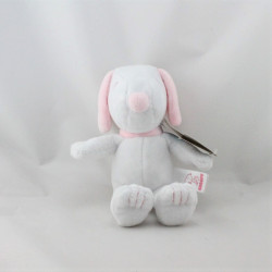 Doudou chien blanc rose SNOOPY GIPSY
