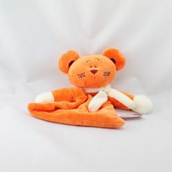 Doudou plat souris orange TIAMO COLLECTION
