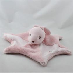 Doudou plat étoile lapin rose BESTEVER 2011