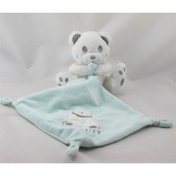 Doudou ours blanc mouchoir bleu sweet dream KIABI SIMBA TOYS