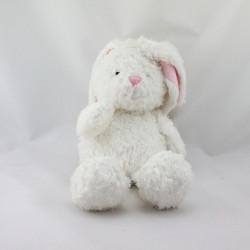 Doudou lapin blanc rose ALOHA