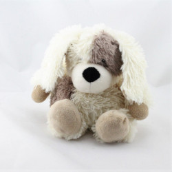 Doudou peluche chien blanc beige marron WARMIES