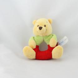 Doudou hochet Winnie rouge vert DISNEY BABY