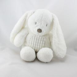 Grand Doudou lapin blanc TEX BABY