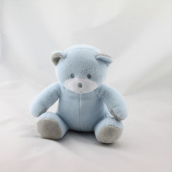 Doudou ours bleu gris Musti Mustela