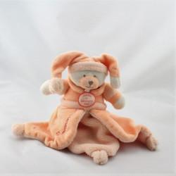 Doudou et compagnie plat ours orange Douceur Macaron