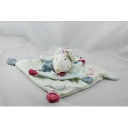Doudou et compagnie plat souris verte rose Filousine