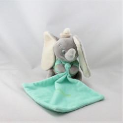 Doudou luminescent Dumbo l'éléphant gris vert mouchoir DISNEY NICOTOY