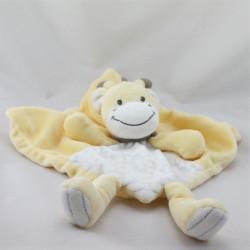 Doudou plat girafe beige blanc rayé echarpe marron SIMBA TOYS NICOTOY