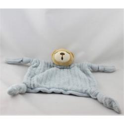 Doudou patapouf ours bleu blue laine enfant KALOO