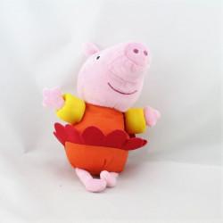 Doudou cochon rose orange rouge tutu PEPPA PIG