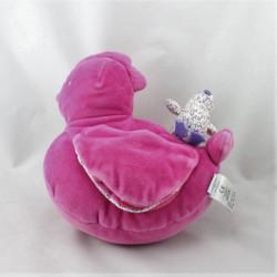Doudou poule rose poussin JACADI