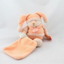 Doudou et compagnie ours orange Douceur mouchoir Macaron