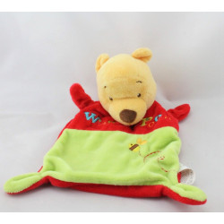 Doudou plat Winnie l'ourson rouge vert abeille DISNEY NICOTOY