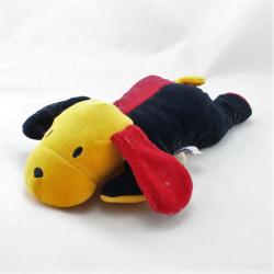 Doudou chien rouge noir jaune SUCRE D'ORGE