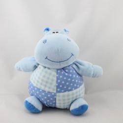 Doudou hippopotame bleu pois KSD