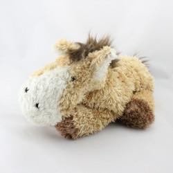 Doudou cheval beige blanc marron EGMONT TOYS