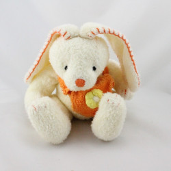 Doudou lapin blanc sac orange fleur ANNA CLUB PLUSH