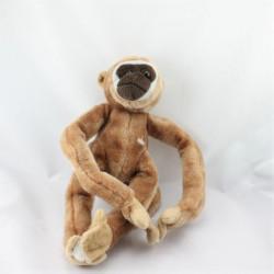 Doudou peluche singe marron PIA