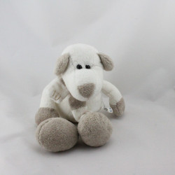 Doudou ours chien blanc marron PLANET PLUCH