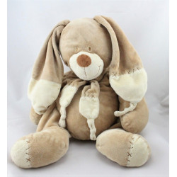 Doudou lapin beige écru avec écharpe NICOTOY