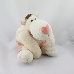 Doudou chien blanc rose marron NICI