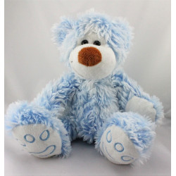 Peluche ours bleu CUDDLES COLLECTION