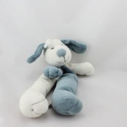 Doudou pantin chien blanc bleu CMP