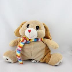 Doudou lapin beige marron écharpe SANDY