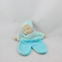 Doudou plat poupée lutin bleu bonnet PEPPA