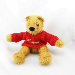 Doudou et compagnie ours beige pull rouge Timou