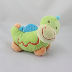 Doudou hochet dragon vert dentition NATTOU