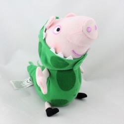 Doudou sonore cochon rose déguisé en dinosaure PEPPA PIG
