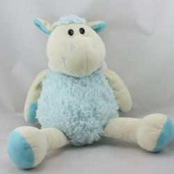 Doudou mouton blanc écru bleu ALTHANS CLUB