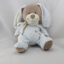 Doudou lapin beige bleu NICOTOY 30 cm