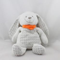 Doudou lapin blanc foulard orange NICOTOY