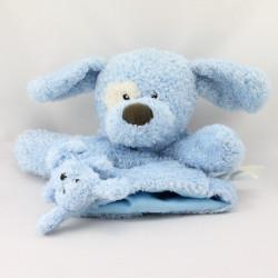 Doudou marionnette chien bleu bébé KIMBALOO