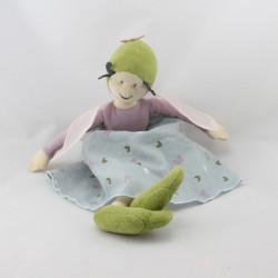 Doudou Poupée fée mauve bleu vert IKEA
