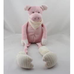 Doudou cochon rose aux longues pattes LES PETITES MARIE