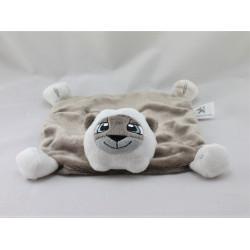Doudou plat chat lion marron blanc PEUGEOT