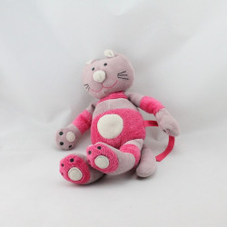 Doudou chat rose prune DPAM