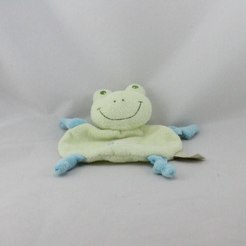 Doudou plat Froggy grenouille verte TAPE A L'OEIL