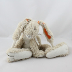 Doudou lapin beige blanc orange HAPPY HORSE