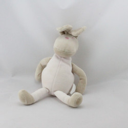Doudou lapin beige rose Corolle