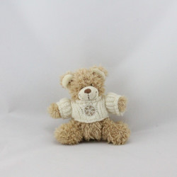 Mini peluche ours beige blanc PLUSHIES COLLECTION